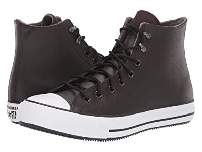 Converse Chuck Taylor All Star Winter Leather Boot Hi (Velvet Brown/White/Black) Shoes