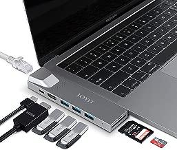 JOYIT USB C Hub, MacBook Pro Adapter with Gigabit Ethernet RJ45, 4K HDMI, Thunderbolt 3 Adapter, 3 USB 3.0, SD/TF Card Reader for MacBook Air 2018/2019 and MacBook Pro 2016/2017/2018/2019 13 15 inch