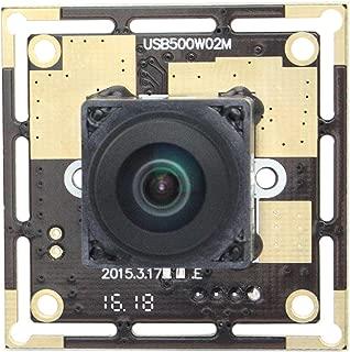 170 Degree Autofocus 5MP USB Webcamera 2592X1944 Wide Angle USB Camera with CMOS OV5640 Image Sensor Web Cams for Video Systems Mini Webcam Free Drive USB Camera Module for Windows Android Mac