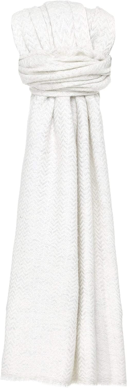 Jules B Women's Herringbone Wool Scarf Cream