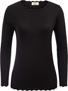 Women's High Stretchy Long Sleeve Pullover Sweater Blouse Top