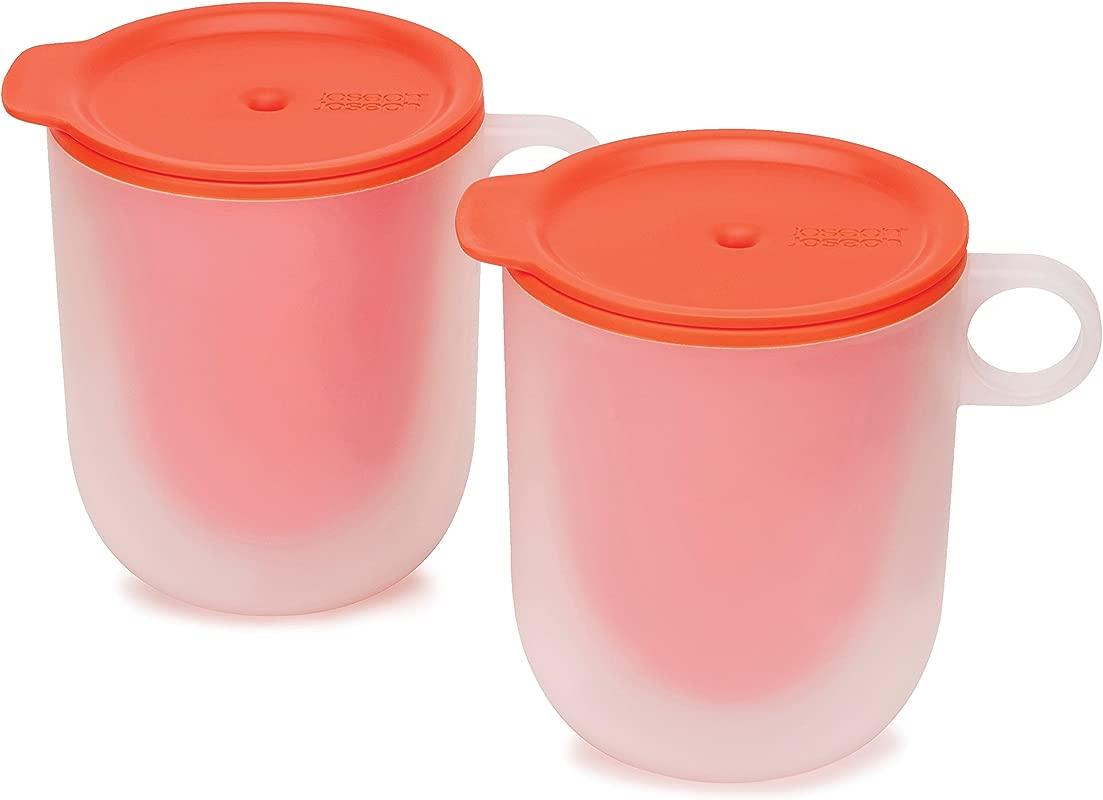 Joseph Joseph 45012 M Cuisine Cool Touch Microwave Mug Set Of 2 Orange