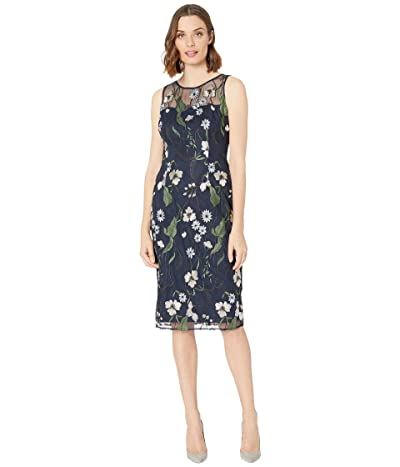 Adrianna Papell Pastel Paradise Embroidered Sheath Dress Women