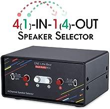 4 Channel Audio Splitter Speaker Switcher Sound Switch Box Stereo Amplifier Selector