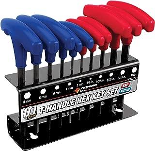 Performance Tool W80277 SAE & Metric Combination T-Handle Hex Key Set, 10-Piece