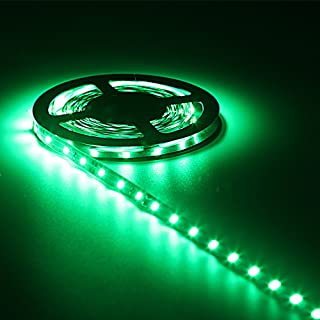 Hontiey 5M / 16.4 Ft Led Strip SMD 2835 Waterproof 300 LEDs Green