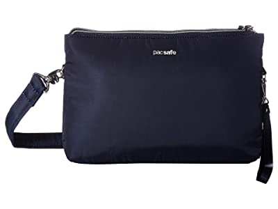 Pacsafe Stylesafe Anti-Theft Double Zip Crossbody (Navy) Handbags