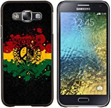 Samsung Galaxy E5 / SM-E500 , Luminous-Blue - Hard Plastic Back Case Cover Shell (Join Together)