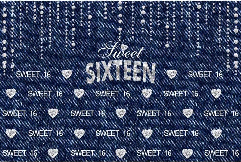 DORCEV 10x10ft Sweet 16 Happy Birthday Backdrop Sixteen Years Old Birthday Party 16th Anniversary Party Background Gold Eiffel Tower Gold Spots Party Cake Table Banner Adult Photo Studio Props
