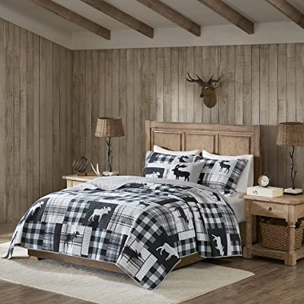 Woolrich Sweetwater Quilt Set Black/Grey