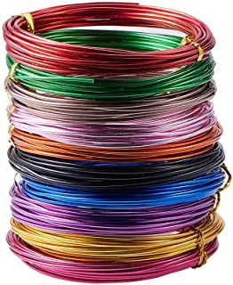 PH PandaHall 10 Rolls Aluminum Craft Wire 12 Guage Flexible Artistic Floral Colored Jewely Beading Wire For Diy Jewelry Cr...