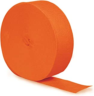 Creative Converting Touch of Color Crepe Paper Streamer Roll, 81-Feet, Sunkissed Orange, One size -