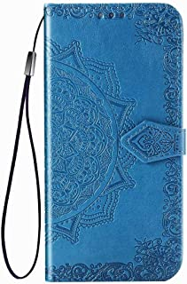 Honor Play 4T Pro Cover ケース,Hllycr Protective Purse ケース for Huawei Honor Play 4T Pro 手帳型 ポーチ ID&クレジットカードホルダー - Blue