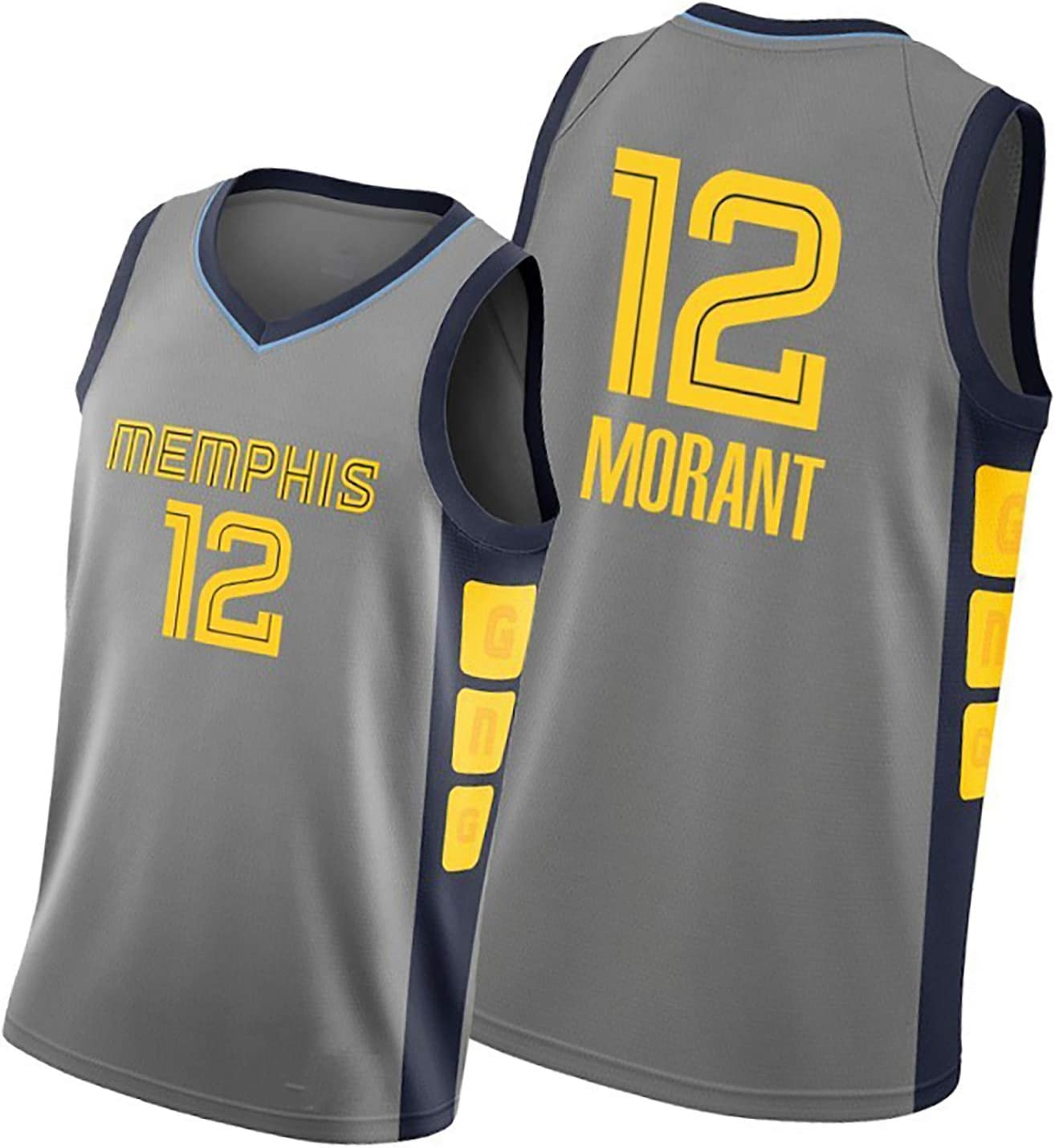 Basketball Game Training Clothes Can Be Washed Repeatedly Real Jerseys Suitable for Morant 12 Number Basketball Jersey Mens and Womens Basketball Jerseys