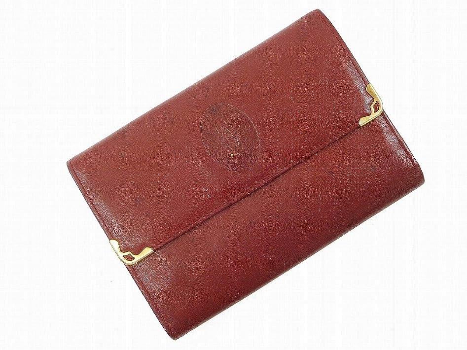 グリル仮定受け入れ[カルティエ] Cartier 二つ折り財布 レザー X16663 中古