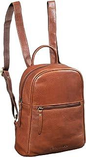 """STILORD Scarlett"""" Vintage Rucksack Damen Klein Leder Rucksackhandtasche Lederrucksack für iPad & 10.1 Zoll Tablet Handtasche City Ausgehen Shopping Daypack, Farbe:Texas - braun"""