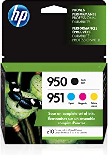 HP 950 & 951 | 4 Ink Cartridges | Works with HP Officejet Pro 251dw, 276dw, 8600 Series, 8100 | Black, Cyan, Magenta, Yell...