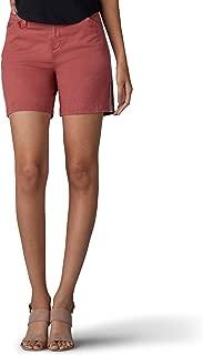LEE Women's Straight Fit Tailored Chino Tuxedo Short