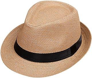 Topgrowth Cappello di Jazz Bambino Estate Spiaggia Cappello di Paglia Panama Outdoor Ragazzo Cappello da Gentiluomo