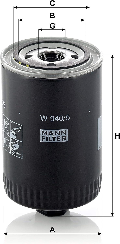 Original Mann Filter Ölfilter W 940 5 Hydraulikfilter Für Pkw Und Nutzfahrzeuge Auto