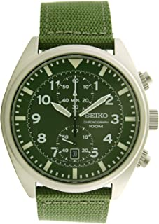 Men's SNN239P1 Chronograph Military Green Strap Watch