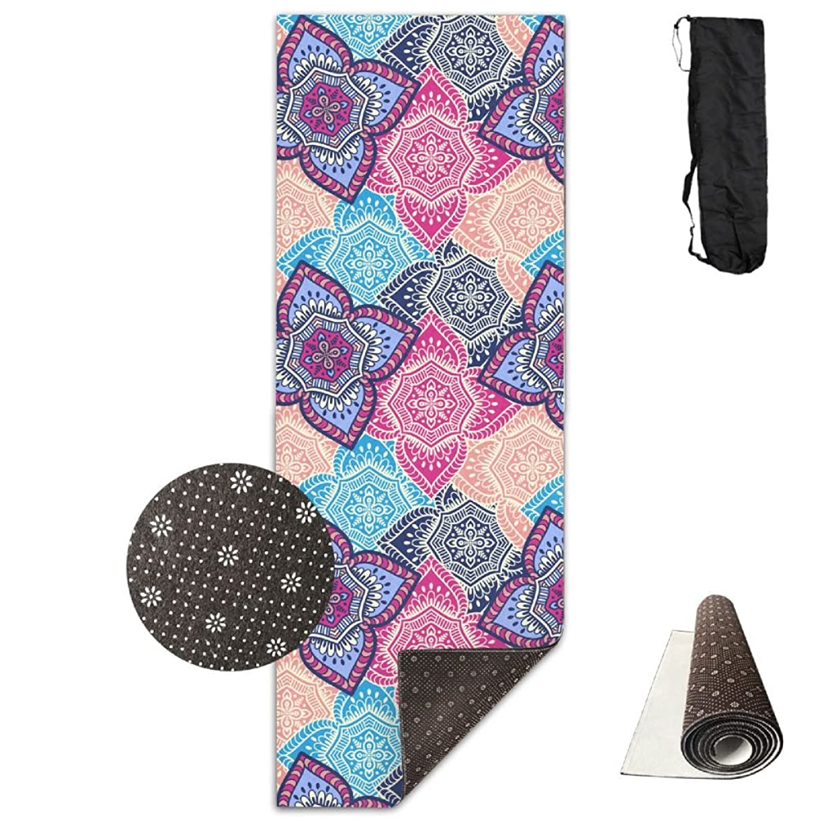 Ethnic Floral Pattern Comfort Unisex Yoga Mat For Yoga,Exercise,Pilates,Sports & Outdoors