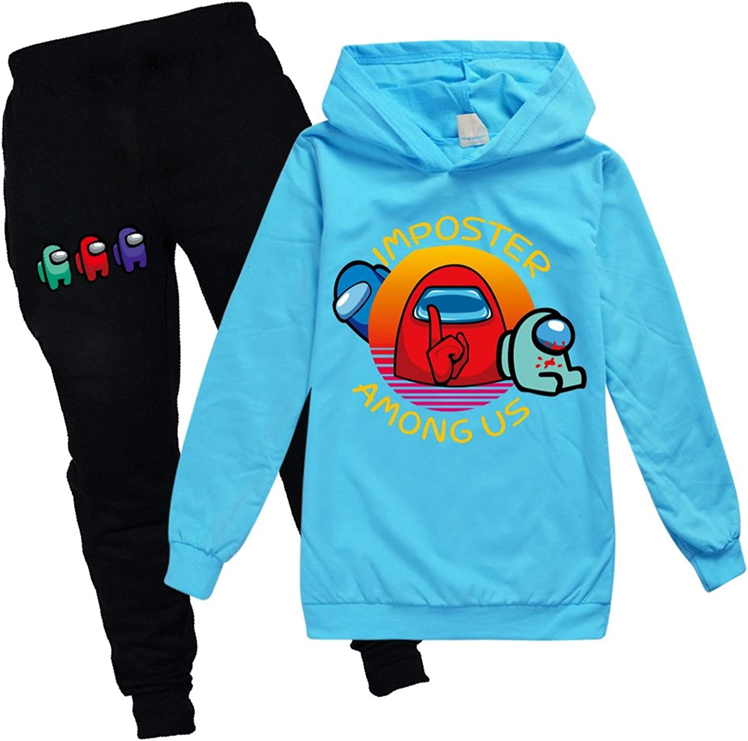 Childrens Among Us Pullover Hoodie And Sweatpants Suit 2 Piece Outfit Sweatshirt Set For Boys Girls