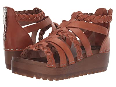 Swedish Hasbeens Gladiator Clog (Cognac) Women