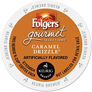 Folgers 6680 Caramel Drizzle Coffee K-Cups, 24/box