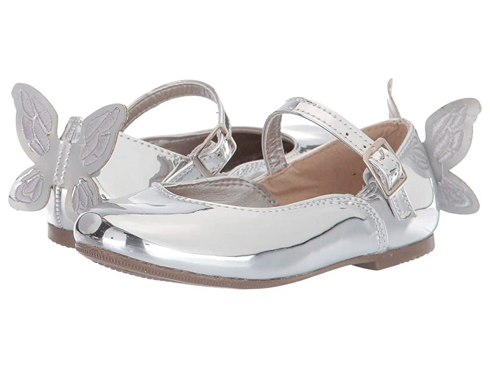 Kid Express Agnes (Toddler/Little Kid) (Silver Mirrored Metallic) Girls Shoes