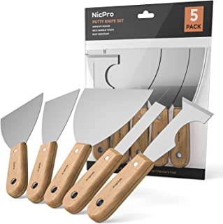 Nicpro Painter Tools 5 PCS, Joint Knife Drywall Putty Knife 1