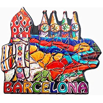 Barcelona España 3D Imán de nevera Artesanía Recuerdo Resina Refrigerador Imanes Colección Regalo de viaje: Amazon.es: Hogar