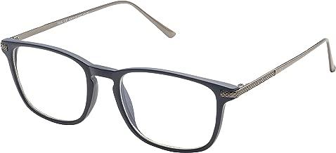 Blue Light Blocking Glasses with Anti-Glare,Cut UV400 Transparent Lens,Computer Reading Glasses,Anti Eyestrain/Anti Scratch/Anti Smudgy,Sleep Better for Women/Men (Navy Blue | +2.75 Magnification)