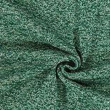 Strickfleece – dunkelgrün — Meterware ab 0,5m —