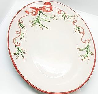 Ovale Antipasti Contorni Linea Natale Ceramica Handmade Le Ceramiche del Castello Nina Palomba Made in Italy Dimensioni 38...