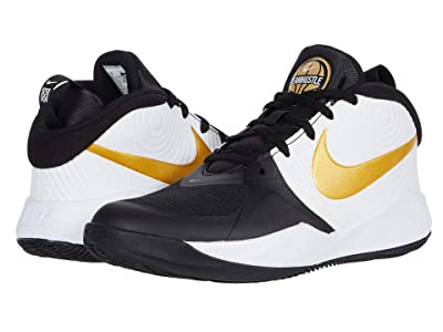 Nike Kids Team Hustle D 9 (Big Kid) (Black/Metallic Gold White) Kids Shoes