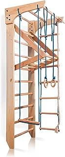 Wall Bars for Kids, Wood Stall Bar, Wooden Swedish Ladder, Kinder-4
