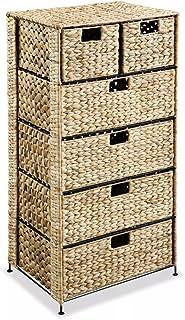 vidaXL Unité de Rangement avec 6 Paniers Armoire de Rangement Panier de Stockage Organisateur avec Paniers Maison 47x37x10...