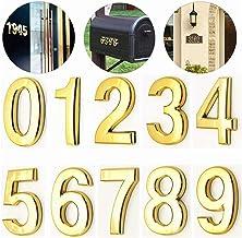 3D Numeral Deur Plaque House Lade Sign Gate Digits 0 tot 9 ABS-nummer Tag Hotel Home Sticker Adresdeur Label Goud Digitaal...