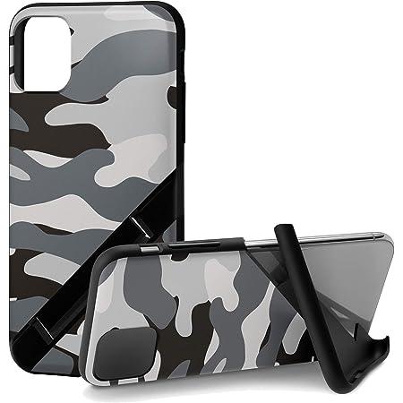 カンピーノ campino iPhone 11 Pro ケース OLE stand スタンド機能 耐衝撃 スリム 動画 Qi ワイヤレス充電対応 カモフラージュ グレー 迷彩 灰色 Camouflage