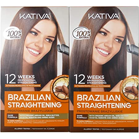 Kativa Keratina y Argán - Kit Alisado Brasileño PACK 2x150 ml ...
