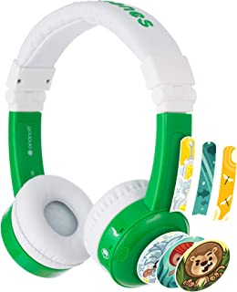ONANOFF BuddyPhones Inflight, Volume-Limiting Kids Headphones, 3 Volume Settings of 75, 85 and 94 dB, Includes Travel Mod...