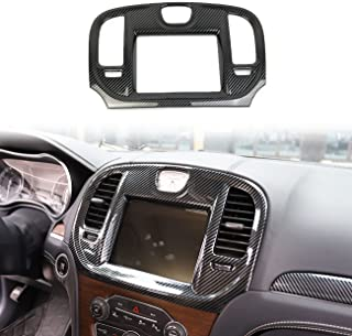 crosselec Carbon Fiber Central Control Navigation Screen Trim for 2015-2021 Chrysler 300
