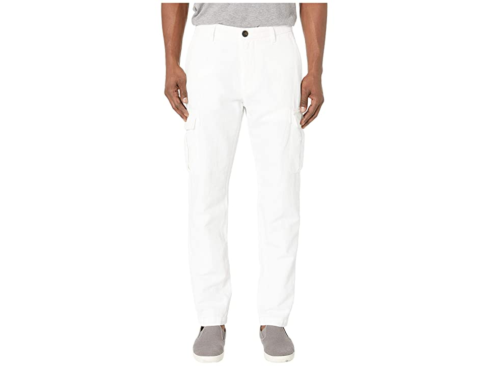 eleventy Lightweight Cargo Pants (White) Men