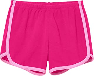 Girls Running Workout Shorts Yoga Sport Fitness Short 100% Cotton - Made in USA