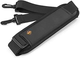 tomtoc Universal Replacement Shoulder Strap with Adjustable Thick Pad for Bags and Luggage, Padded & Adjustable Bag Strap, Black