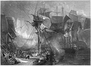 Death Of Nelson 1805 Nthe Death Of Horatio Nelson At The Battle Of Trafalgar In 1805 Steel Engraving After The Painting By JMW Turner Poster Print by (18 x 24)