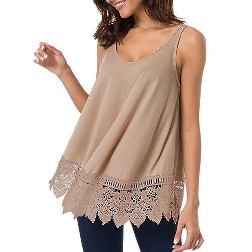 83169c3ae64442 T.SEBAN Womens Tops Sleeveless Long Sleeve Top Casual Loose Shirt