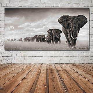 N / A Elefante Animale Decorazione Poster Pittura su Tela Pittura murale Arte Soggiorno Decorazione Pittura