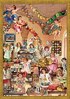 Boston International Advent Calendar, 10 x 14-Inch, Victorian Angel Decoupage